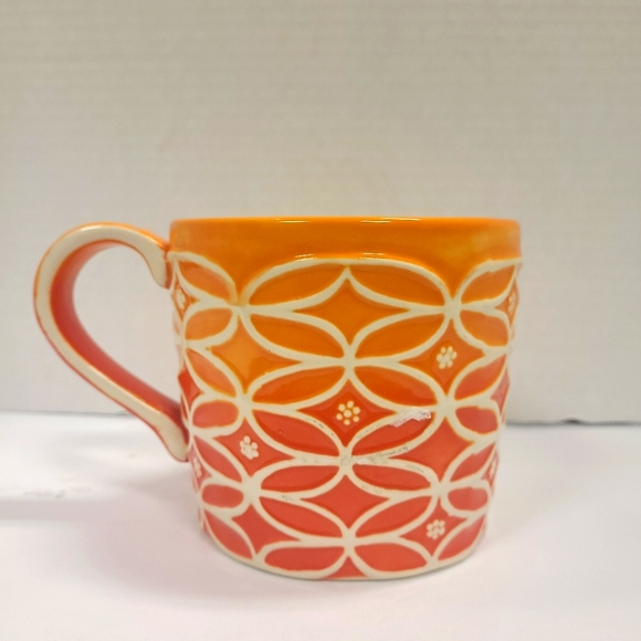 2009 Starbucks Coffee Mug Orange Ombre
